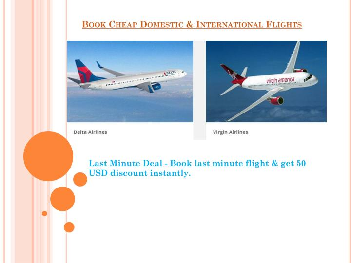 Book Cheap Domestic & International Flights