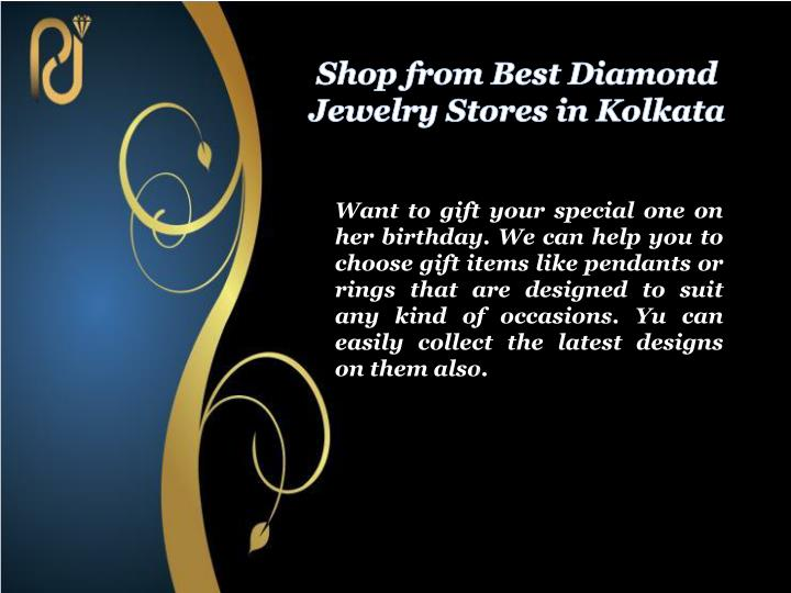 Shop from Best Diamond Jewelry Stores in Kolkata