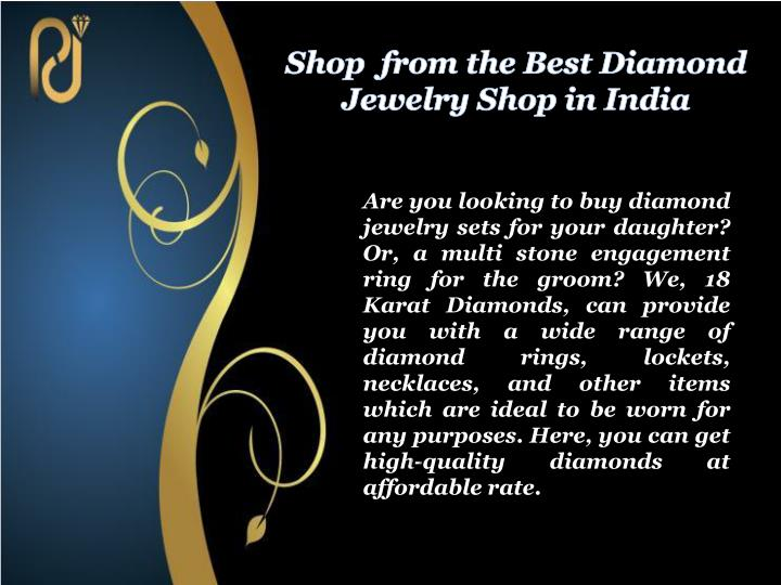 Shop from the best diamond jewelry shop in india