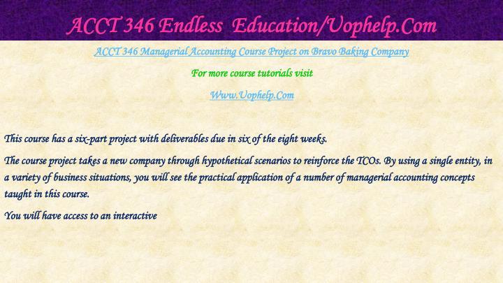 Acct 346 endless education uophelp com2