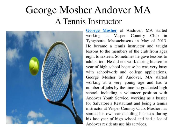 George Mosher Andover MA