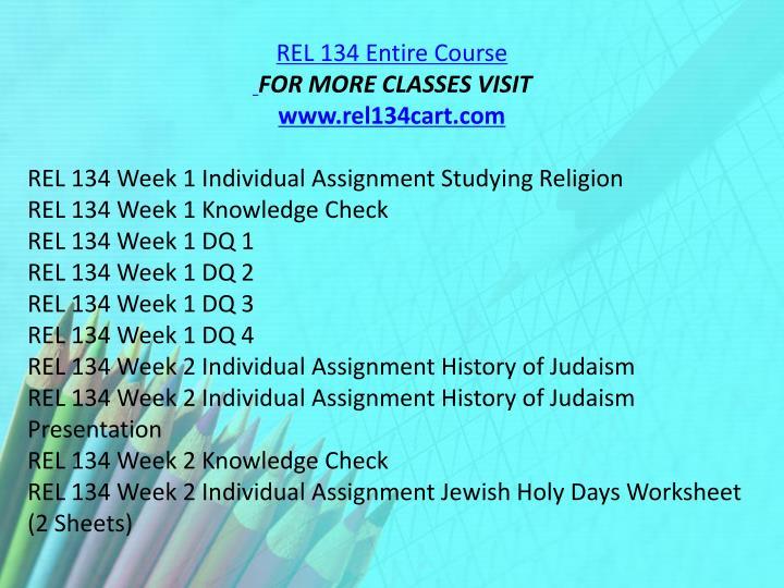 REL 134 Entire Course