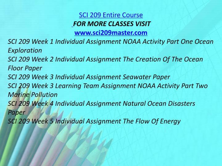 SCI 209 Entire Course