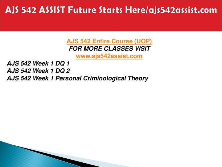 Ajs 542 assist future starts here ajs542assist com1