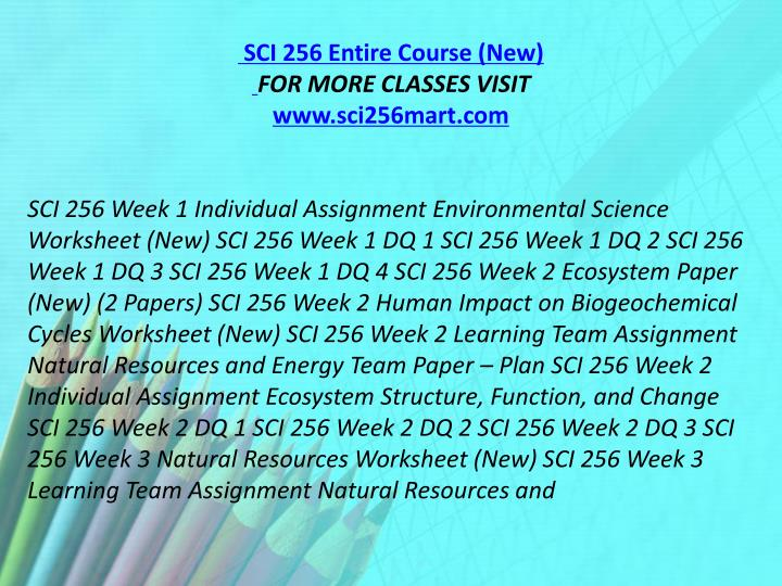 sci 256 week 3 learning natural