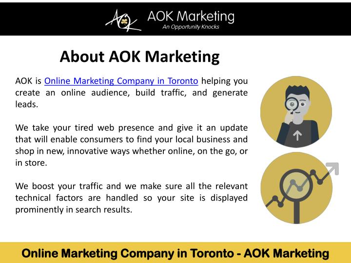 About AOK Marketing