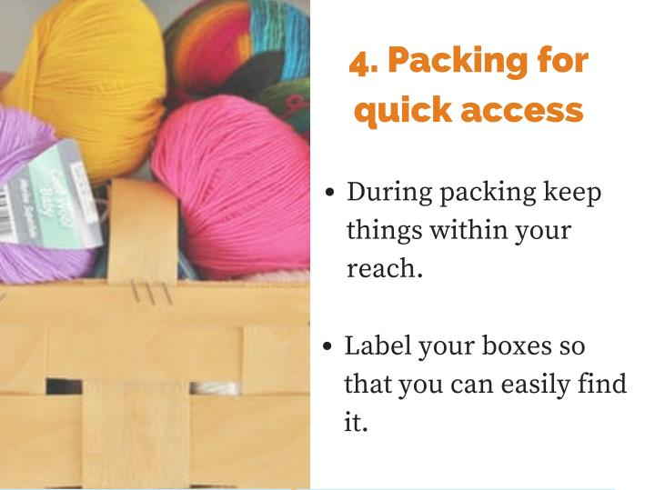 4. Packing for
