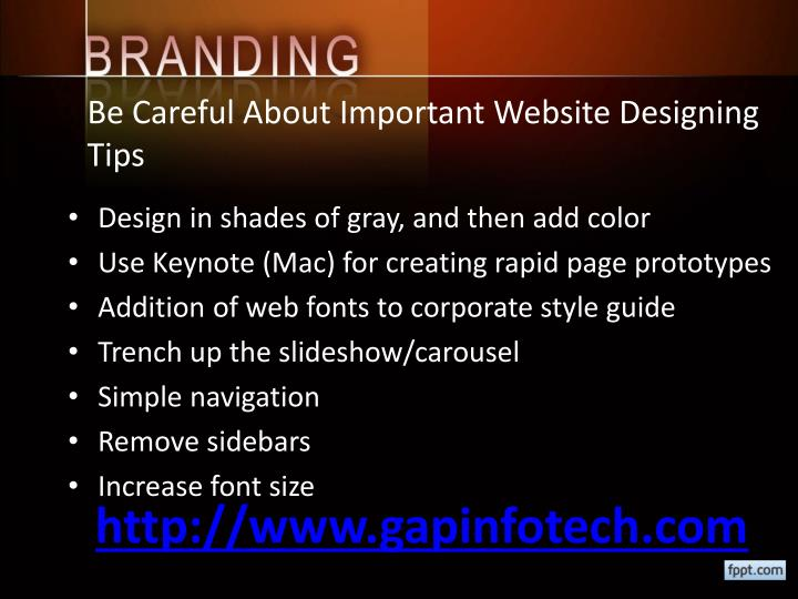 Be Careful About Important Website Designing Tips