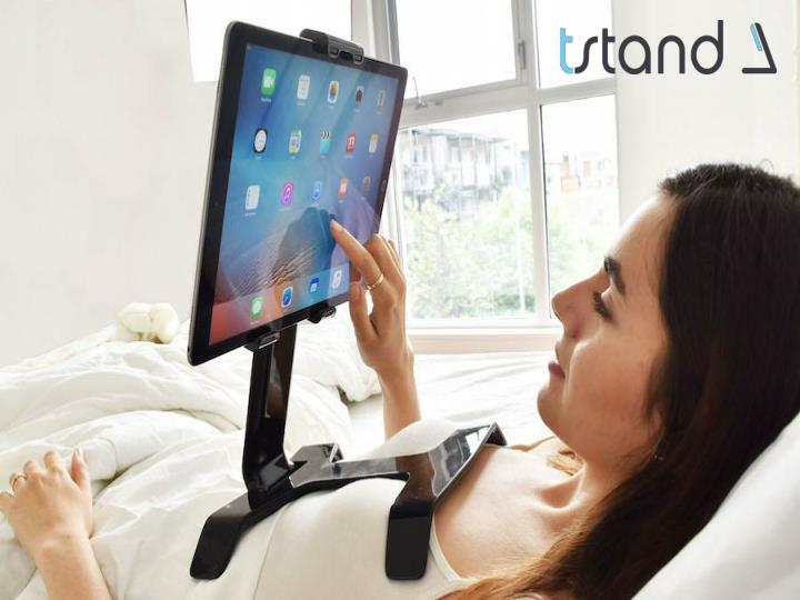 Ipad holder for bed tstand