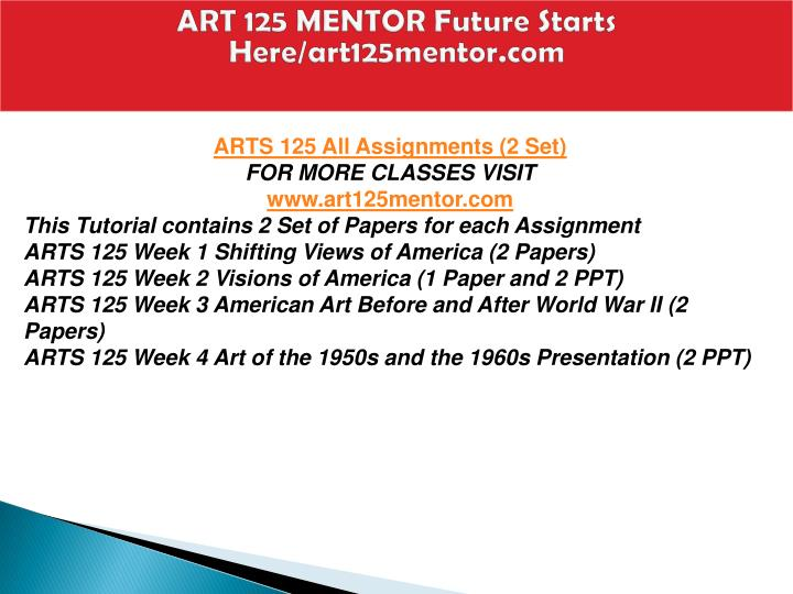 Art 125 mentor future starts here art125mentor com1