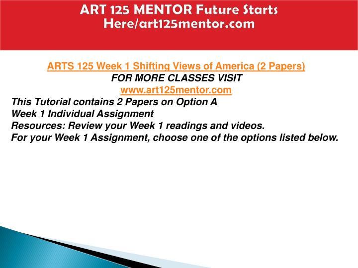 Art 125 mentor future starts here art125mentor com2
