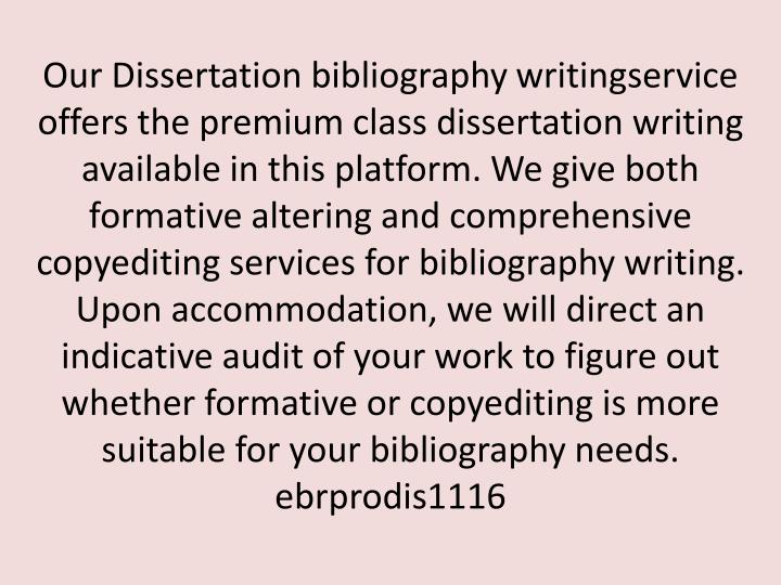 Our Dissertation bibliography