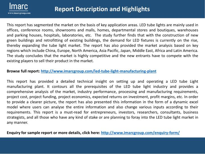 Report Description and Highlights