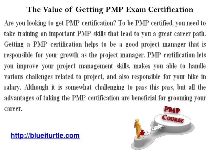 The Value of Getting PMP Exam Certification