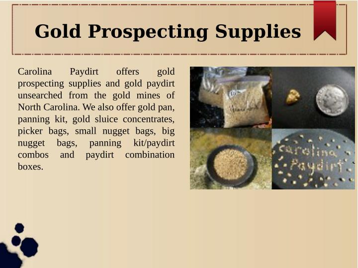 Gold Prospecting Supplies