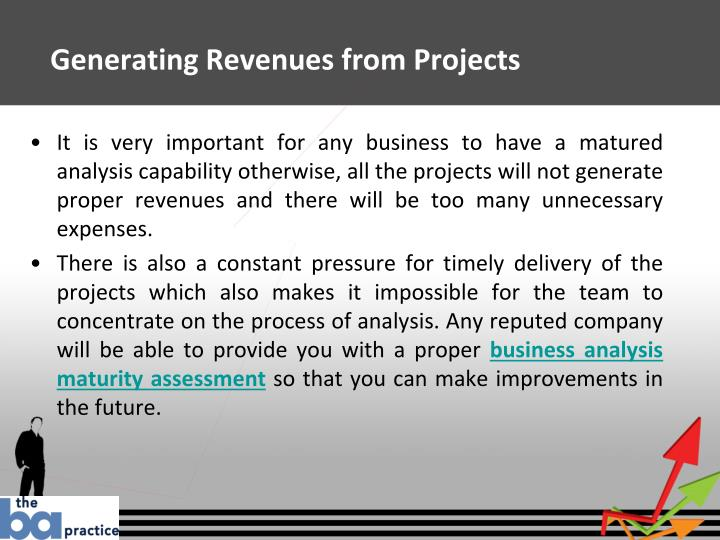 Generating revenues from projects