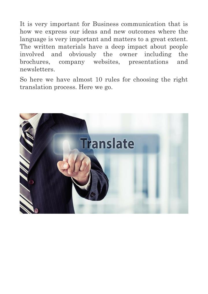 It is very important for Business communication that is