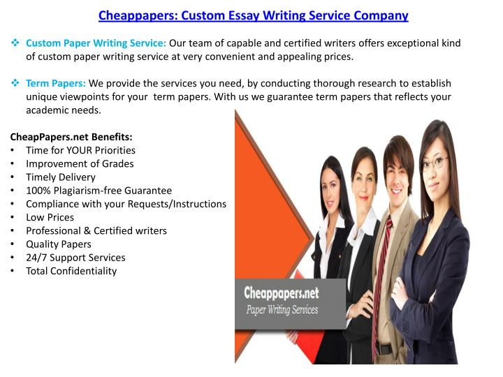 Cheappapers: Custom Essay Writing Service Company