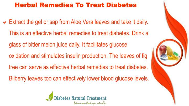 Herbal Remedies To Treat Diabetes