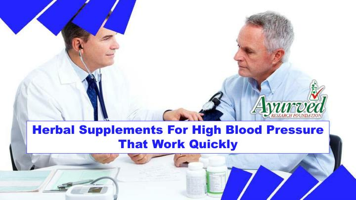 Herbal Supplements For High Blood Pressure That