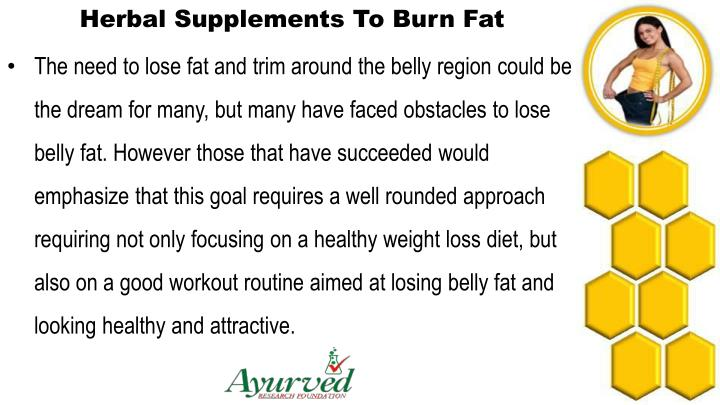 Herbal Supplements To Burn Fat