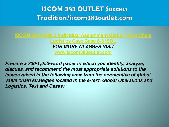 ISCOM 383 OUTLET Success Tradition/iscom383outlet.com