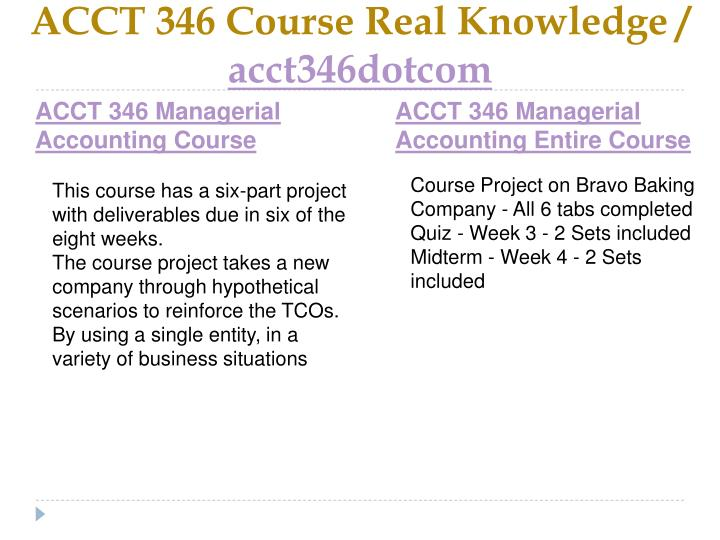 Acct 346 course real knowledge acct346dotcom1