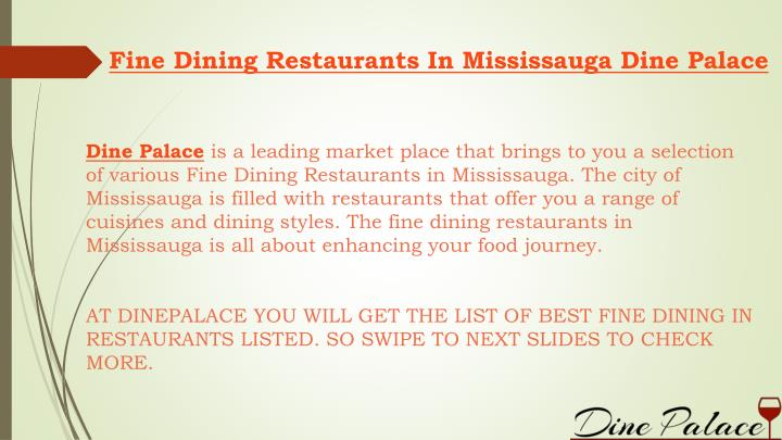 Fine Dining Restaurants In Mississauga Dine Palace