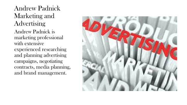 andrew padnick marketing and advertising