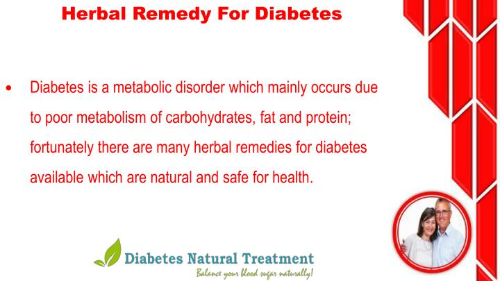 Herbal Remedy For Diabetes