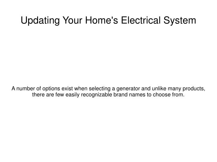 updating your home s electrical system