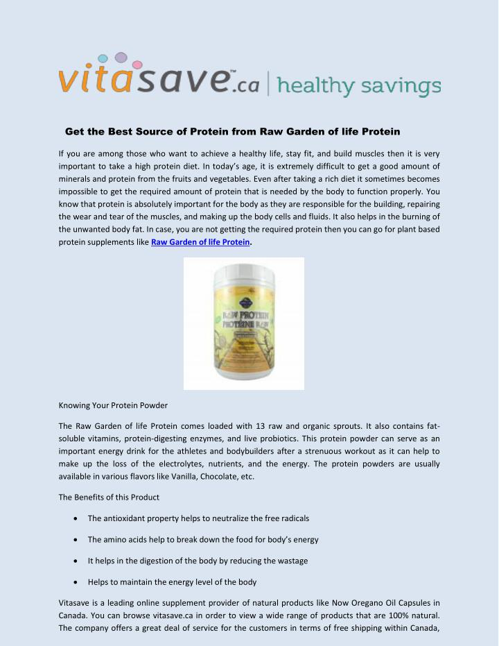 Get the Best Source of Protein from Raw Garden of life Protein