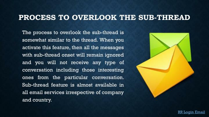 Process to overlook the Sub-thread