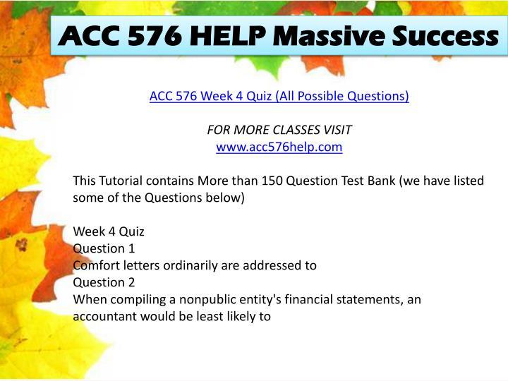 ACC 576 HELP Massive Success