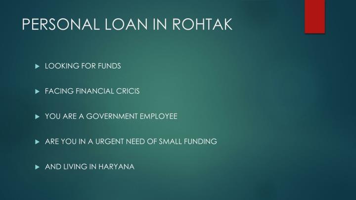 Personal loan in rohtak