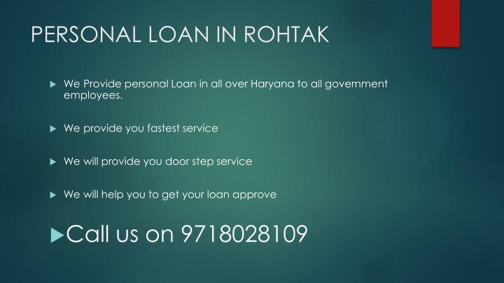Personal loan in rohtak1