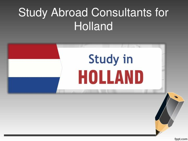 Study Abroad Consultants for Holland
