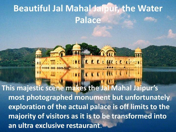 Beautiful Jal Mahal Jaipur, the Water Palace