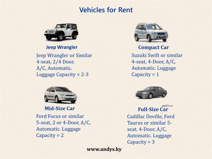 Vehicles for Rent