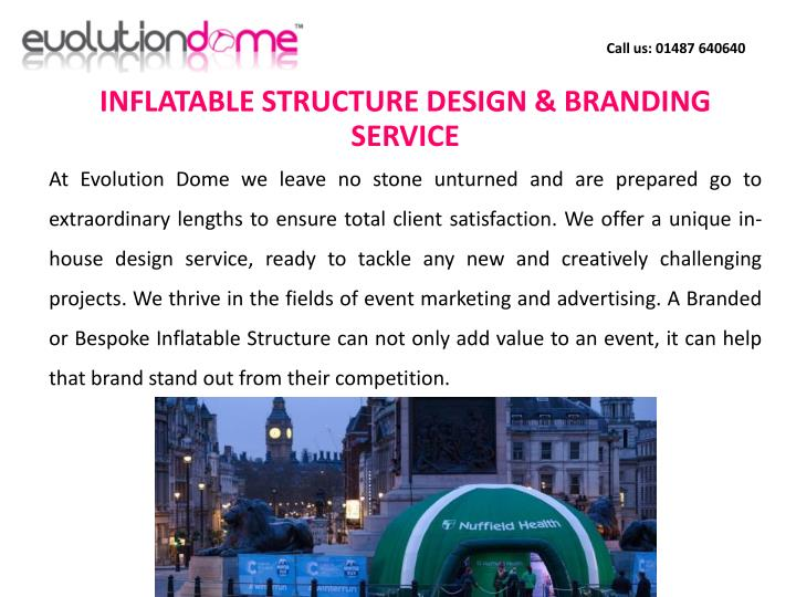 INFLATABLE STRUCTURE DESIGN & BRANDING SERVICE