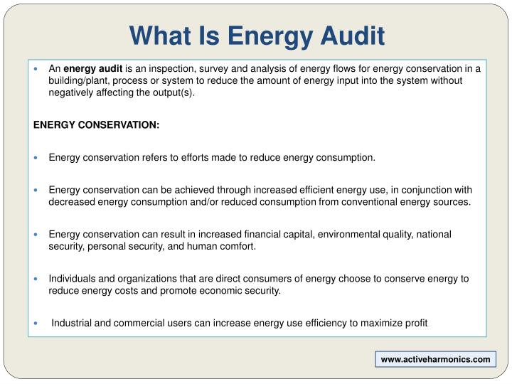 What is energy audit