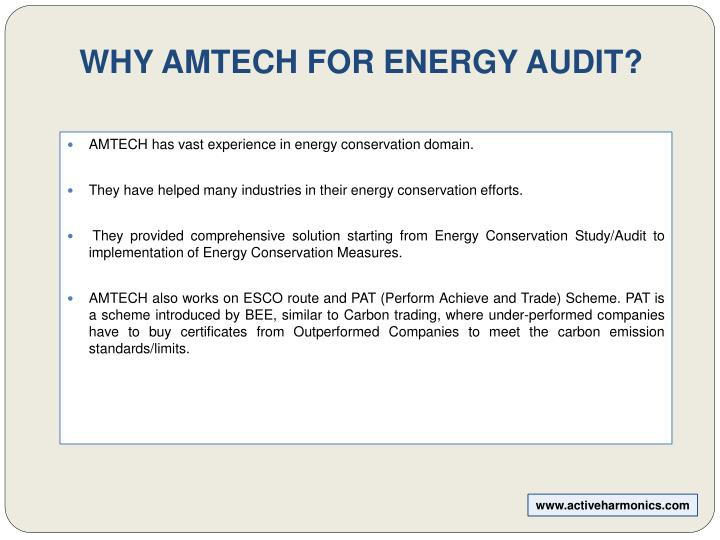 WHY AMTECH FOR ENERGY AUDIT?
