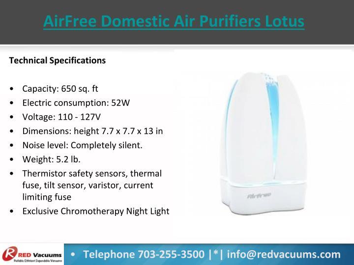 AirFree Domestic Air Purifiers Lotus