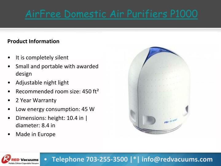 AirFree Domestic Air Purifiers P1000