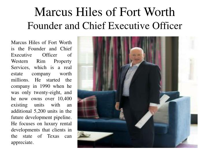 Marcus Hiles of Fort Worth