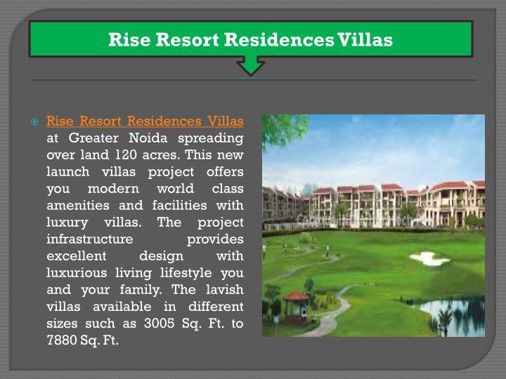 Rise Resort Residences Villas