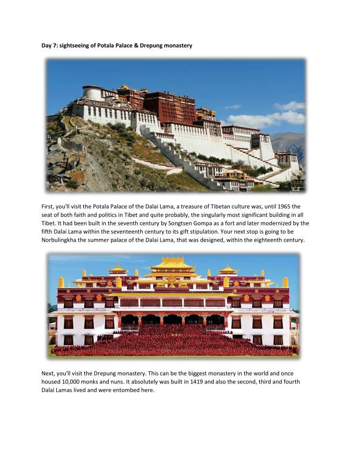 Day 7: sightseeing of Potala Palace & Drepung monastery