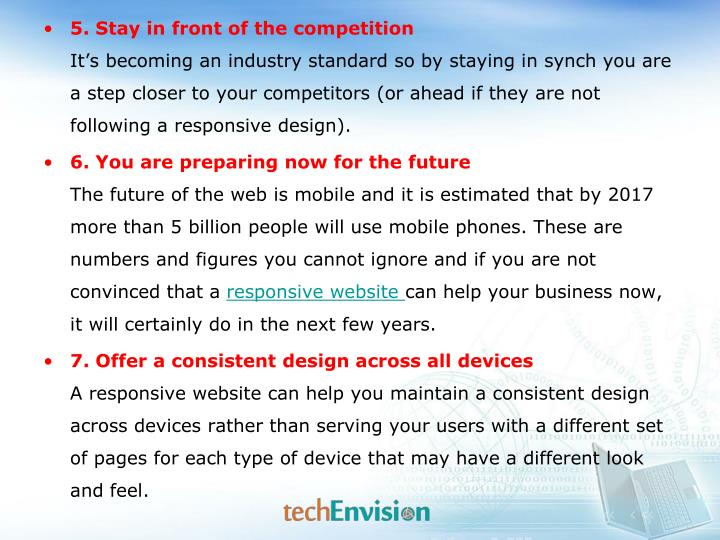 5. Stay in front of the competition
