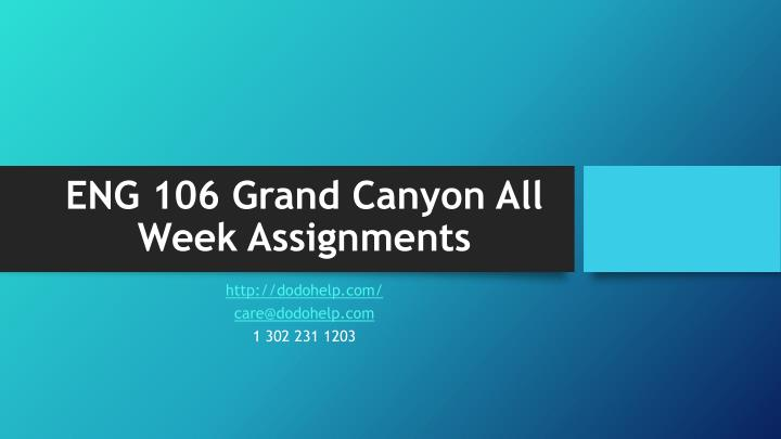eng 106 grand canyon all week assignments n.
