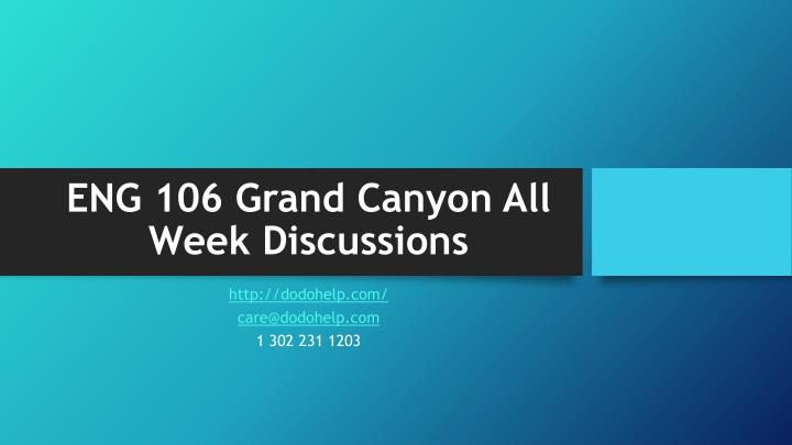 eng 106 grand canyon all week discussions n.